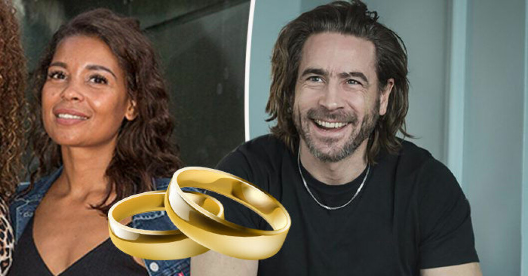 Ola Rapace om bröllopet med Sonja Jawo.