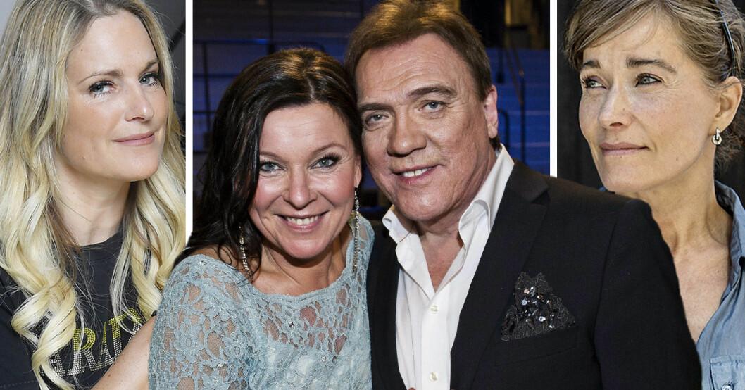 Laila Bagge, Lotta Engberg, Christer Sjögren och Agneta Sjödin.