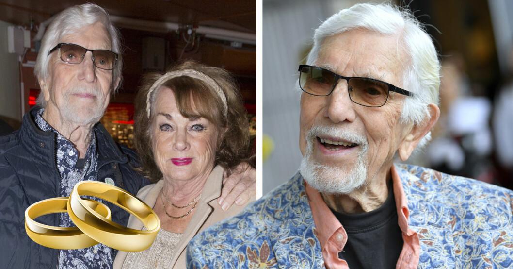 Owe Thörnqvist har gift sig med Berit Gullberg –efter 35 år.
