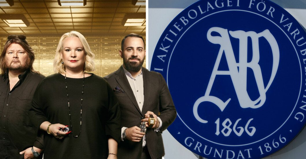 """Juha Marjanemi, Sophia """"Sia"""" Åkerlund och Yunus Celik, experter och värderare i Pantbanken på TV3."""