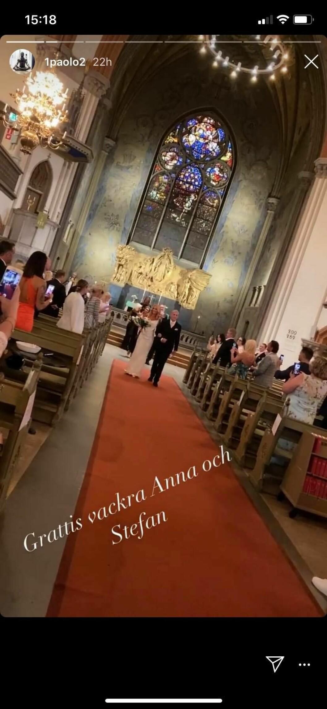 Paolo Roberto på bröllop