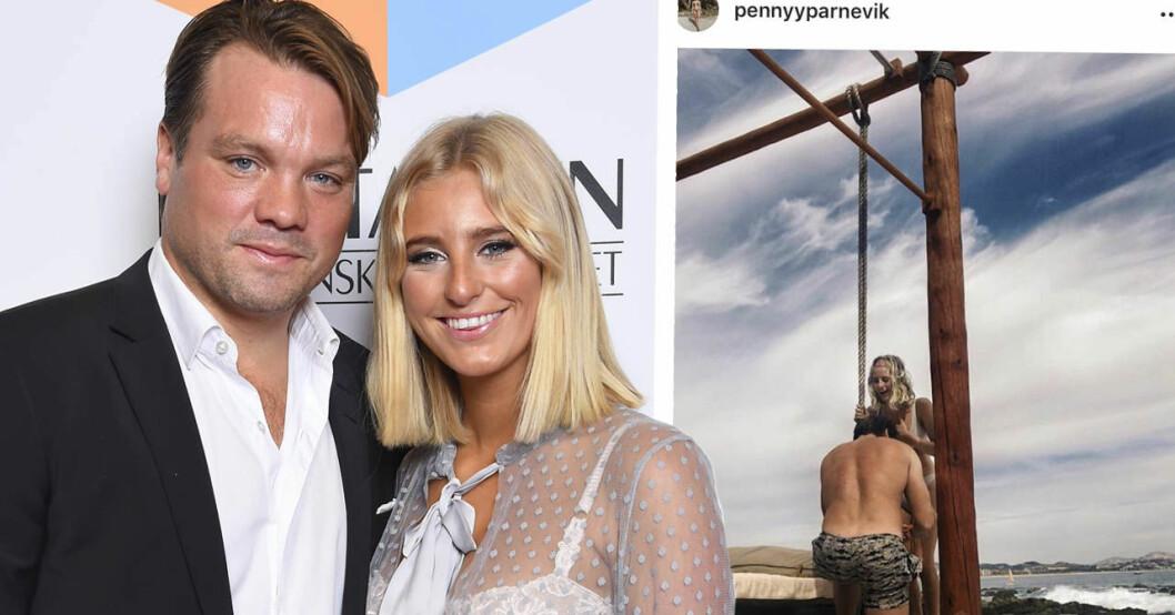 Penny Parnevik förlovad med pojkvännen Douglas Murray.