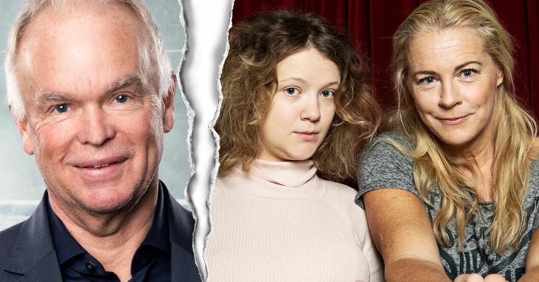 Robert Perlskog, Malena Ernman och Beata Ernman.