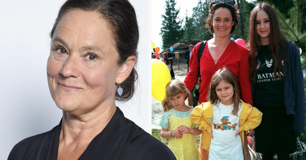 Pernilla August och döttrarna Agnes, Asta och Alba