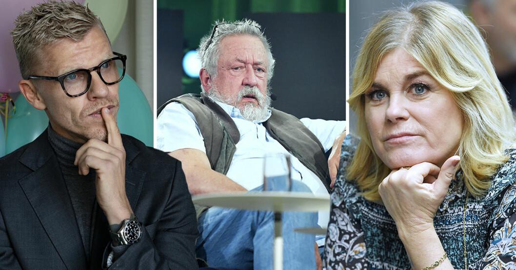 Bingo Rimér, Leif GW Persson och Pernilla Wahlgren