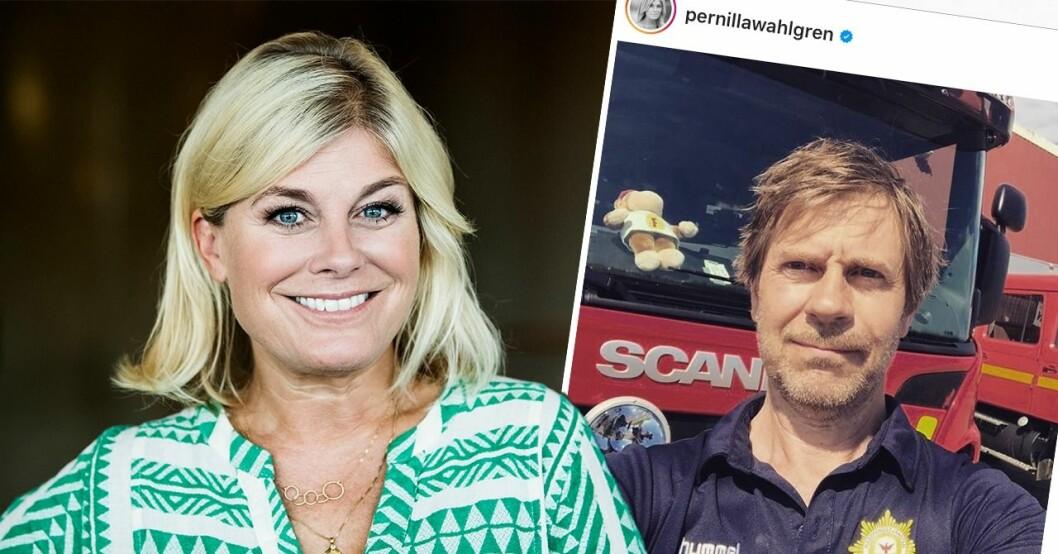 Pernilla Wahlgren och Peter Wahgren