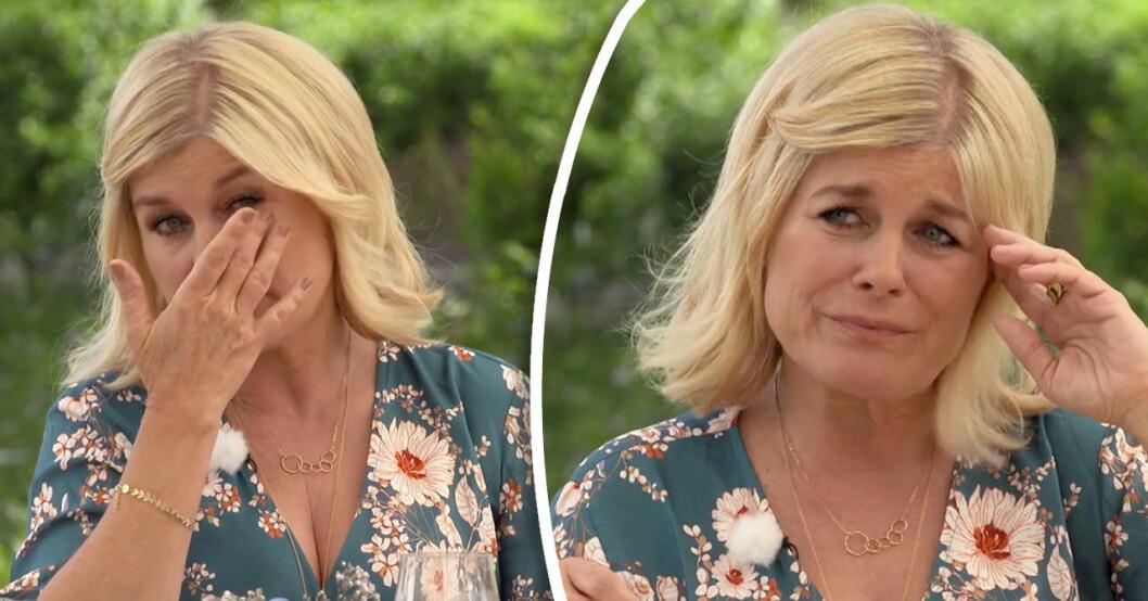 Pernilla Wahlgren i tårar