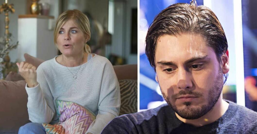 Pernilla Wahlgren och Oliver Ingrosso