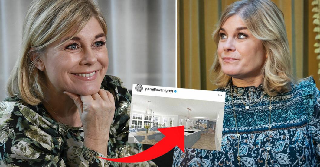 Pernilla Wahlgren visar upp nya lyxköket
