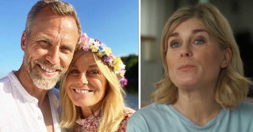 Christian Bauer och Pernilla Wahlgren
