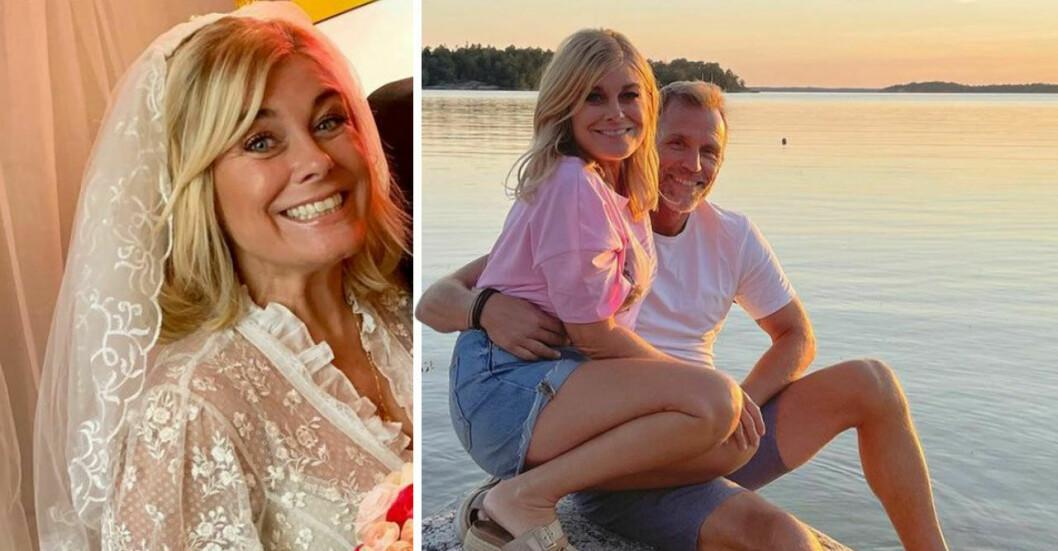 Pernilla Wahlgren och Christian Bauer.