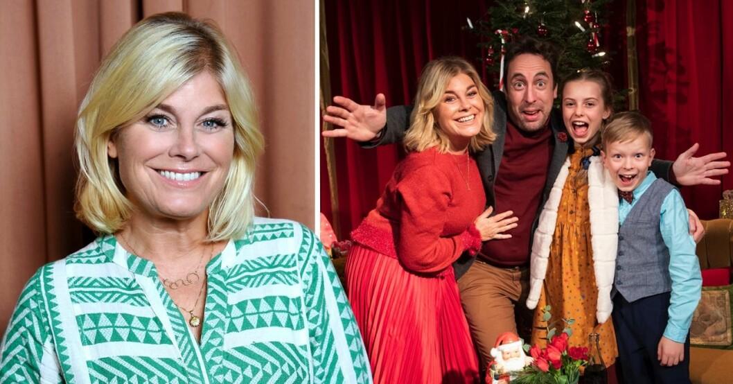 Pernilla Wahlgren och medverkande i årets julkalender på SVT.