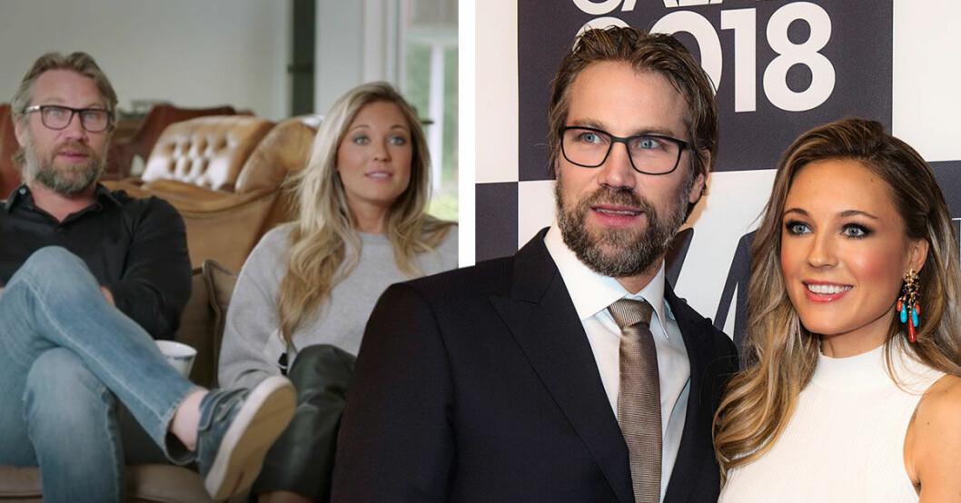 Peter Forsberg och Nicole Nordin om okända graviditeten
