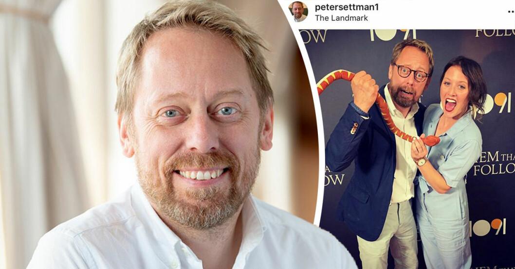 """Peter Settman om kärlekslyckan med Carmen Davies: """"Ännu mer spännande"""""""