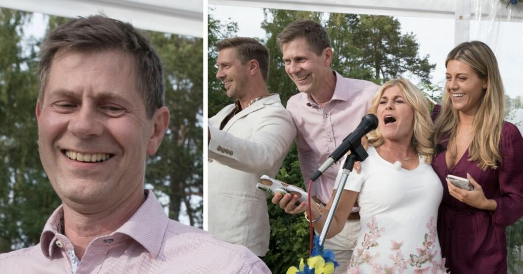 Peter Wahlgren sjunger tillsammans med Linus Wahlgren, Pernilla Wahlgren och Bianca Ingrosso