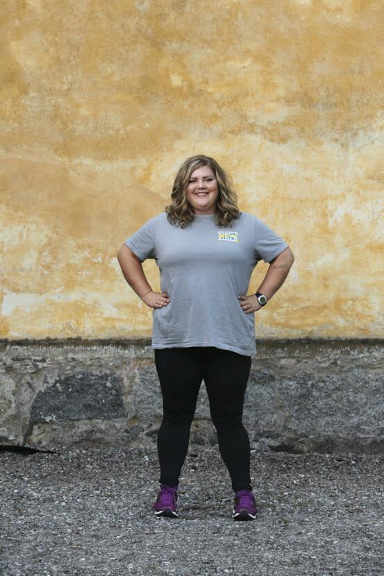Petra Holmlund före tävlingen