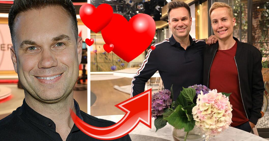 Anders Pihlblad och Henrik Alsterdal i TV4-huset