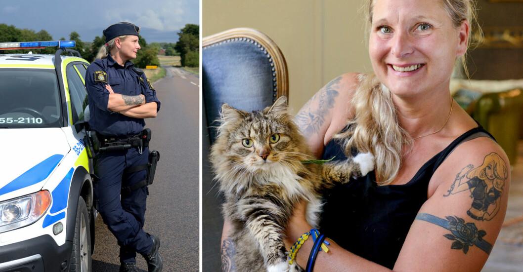 Polisen Jenny Svenningsson är en av alla kvinnor som upplevt våld och hot från en man.