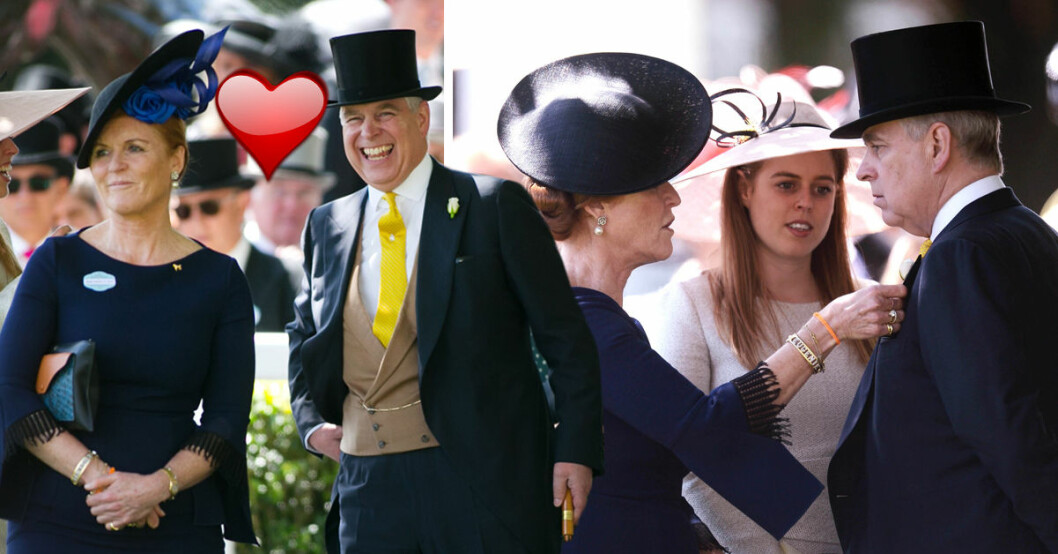 """Prins Andrew och hans exfru Sarah """"Fergie"""" Ferguson sägs vara ett par igen."""