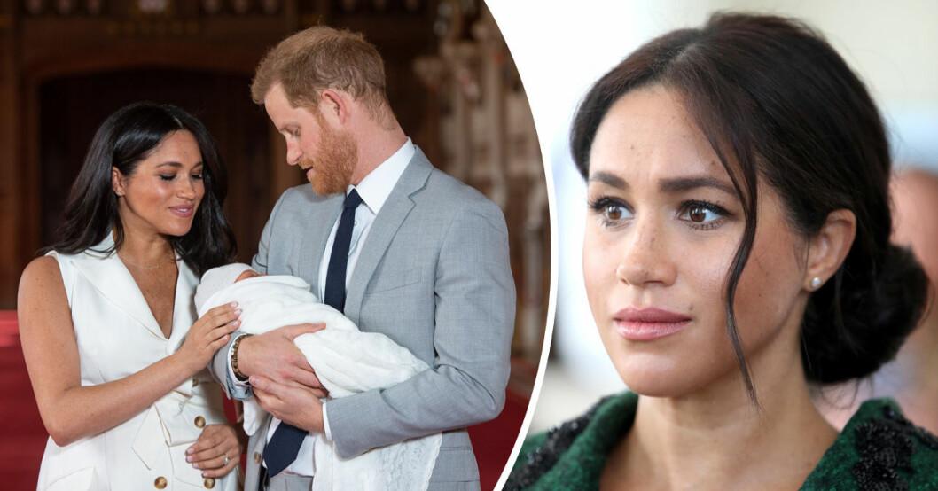 prins harry och meghan markle med sonen Archie