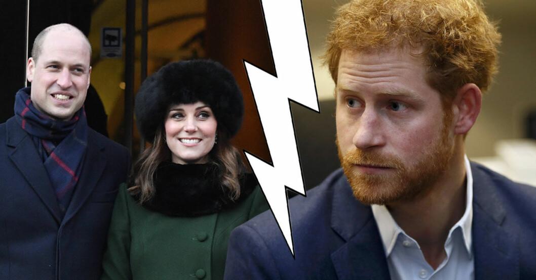 Prins Harry dålig relation med prins William