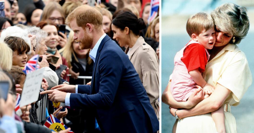 Prins Harry gav några tröstande ord till Otia Nante i New Zeeland, som förlorat sin mamma, precis som prinsen.