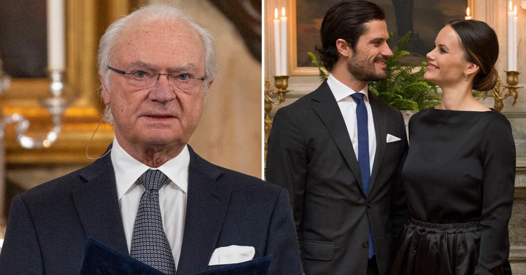 Kung Carl Gustaf, prins Carl Philip, prinsessan Sofia