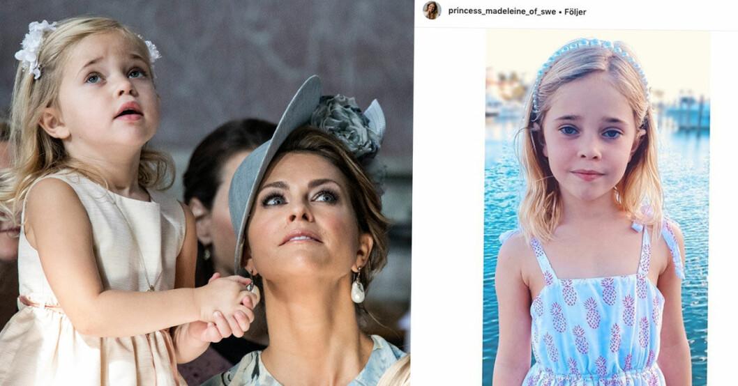 Prinsessan Madeleines nya bild på Leonore på 6-årsdagen