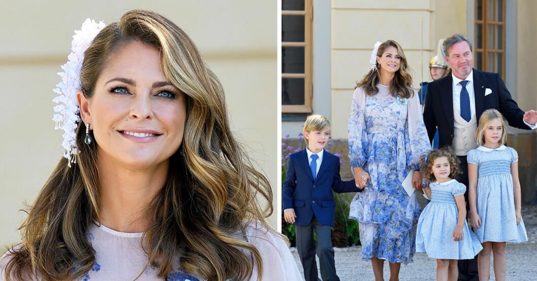 Prinsessan Madeleine med familjen