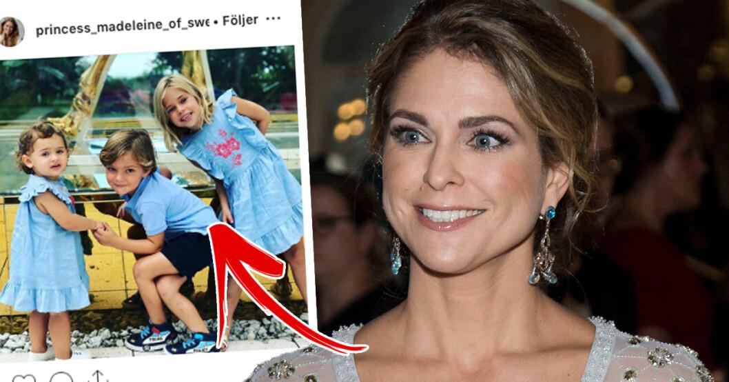 Följarna hyllar detaljen i prinsessan Madeleines nya bild på barnen
