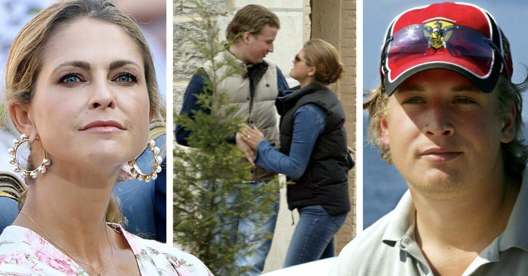Prinsessan Madeleine och ex-pojkvännen Erik Granath tillsammans och var för sig