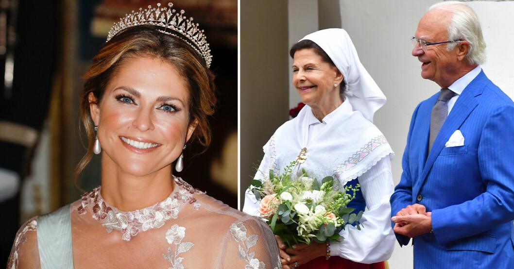 Prinsessan Madeleine, Drottning Silvia, Kung Carl Gustaf