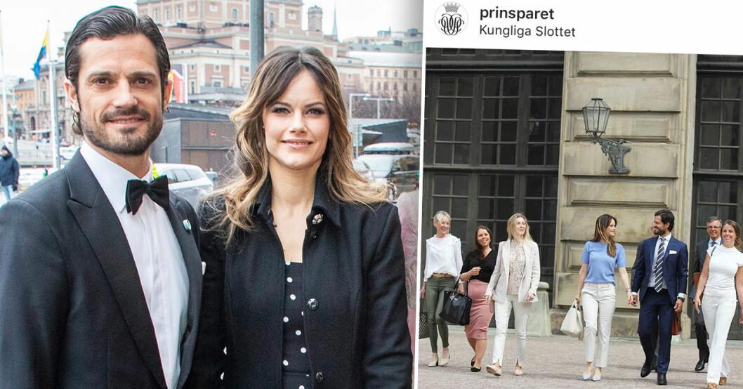 Prinsessan Sofia och prins Carl Philips kärleksblick