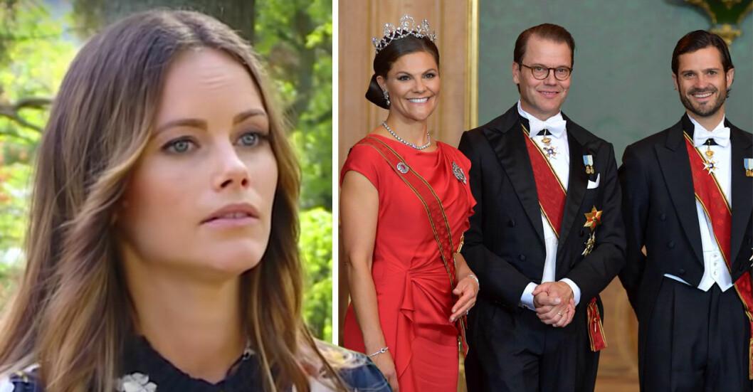 Prinsessan Sofia, kronprinsessparet och prins Carl Philip