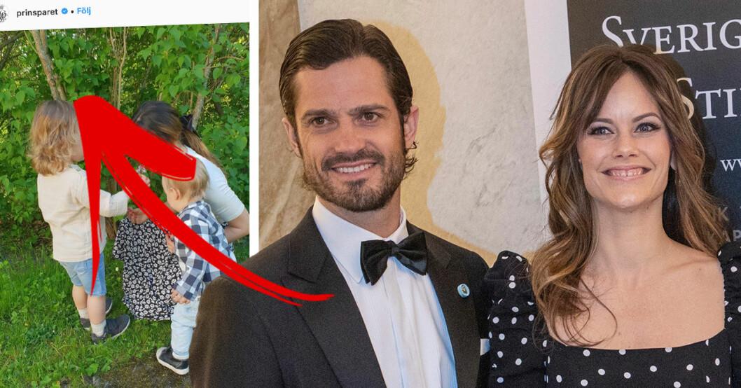 prinsparets nya bild på barnen