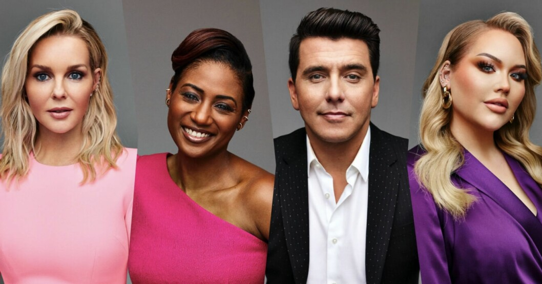 Alla fyra programledare i Eurovision song contest 2021