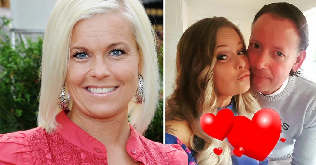 Helena Puhakka 2009 och med sambon Lars Boberg 2021.