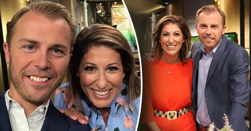 Rania och Thomas i Nyhetsmorgon på TV4