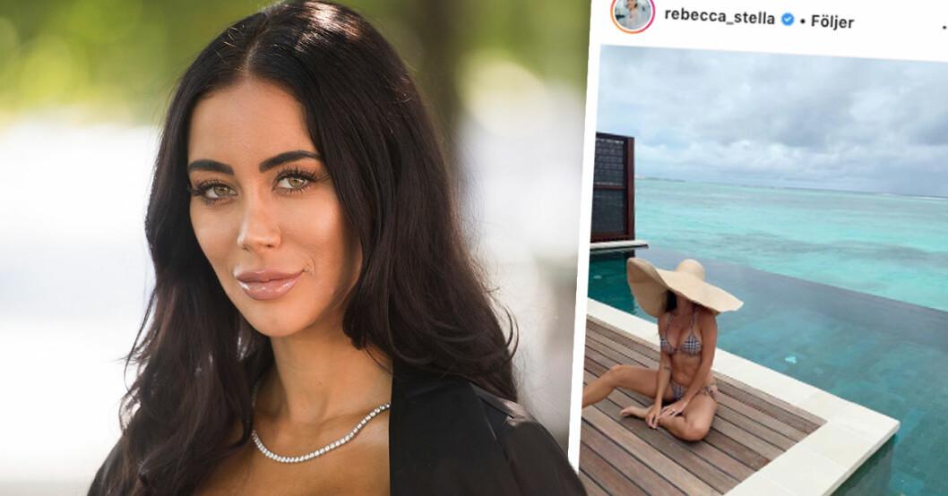 """Rebecca Stellas chock efter händelsen med maken på smekmånaden: """"Ville packa väskan och dra"""""""