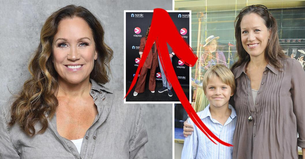 Renée Nyberg och sonen Tom