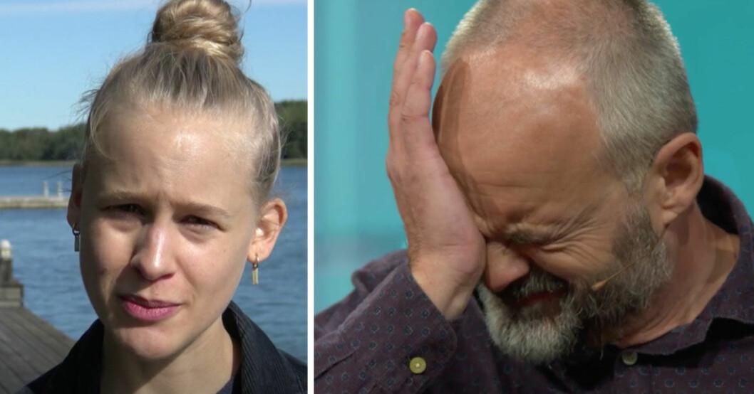 Johan Rheborg i tårar av dottern Josefins hälsning