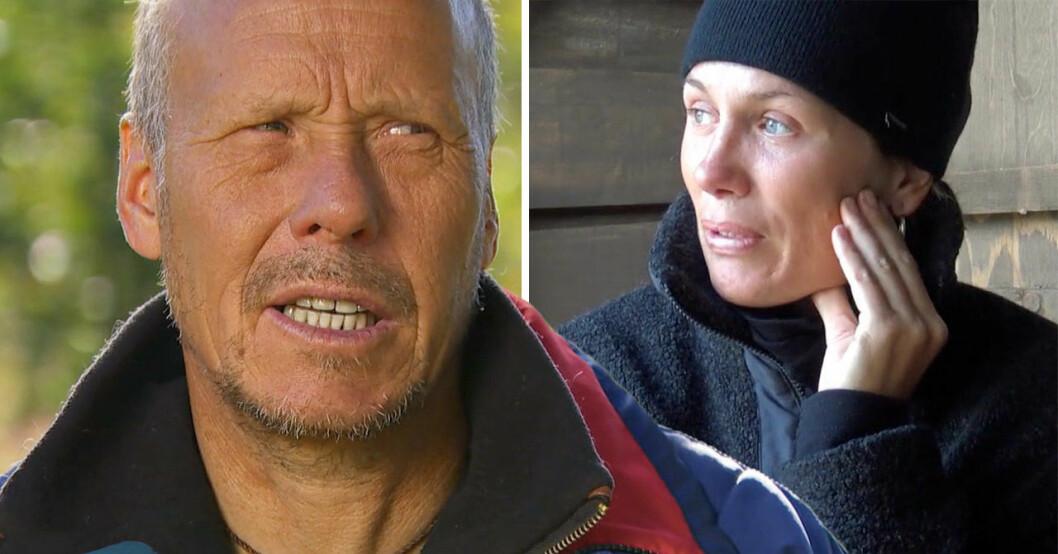 Rickard Länta och Joanna Swica i Robinson 2021.