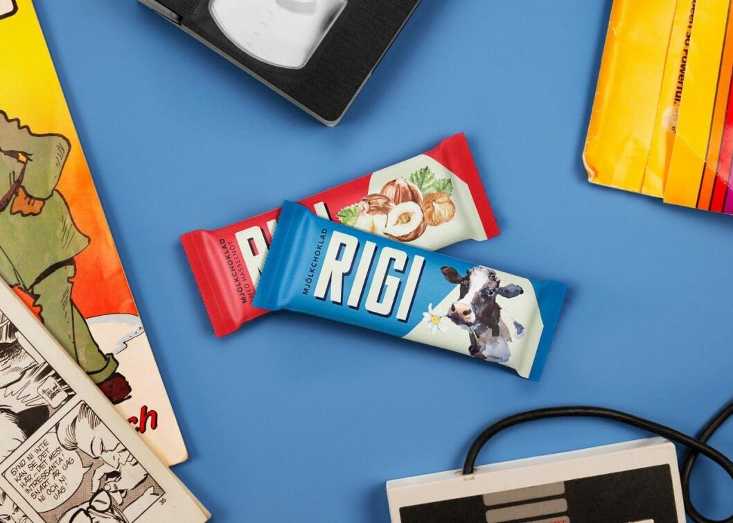Rigi mjölkchoklad och Rigi hasselnöt.