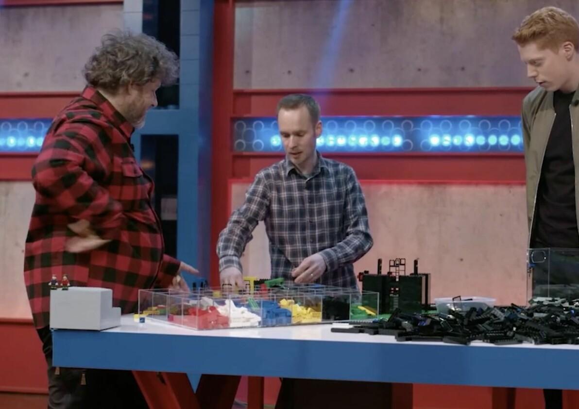 Robert Lundmark, 45, och Hans Brettschneider, 55, i Lego masters Sverige