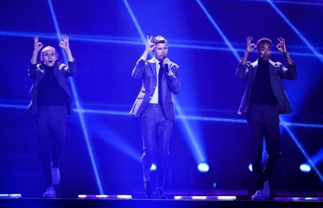 Robin Bengtsson i Eurovision Song Contest.