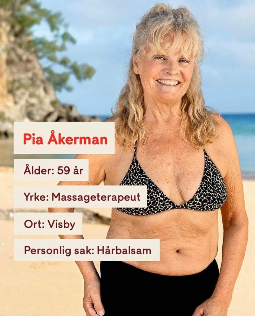 Pia Åkerman i Robinson 2020
