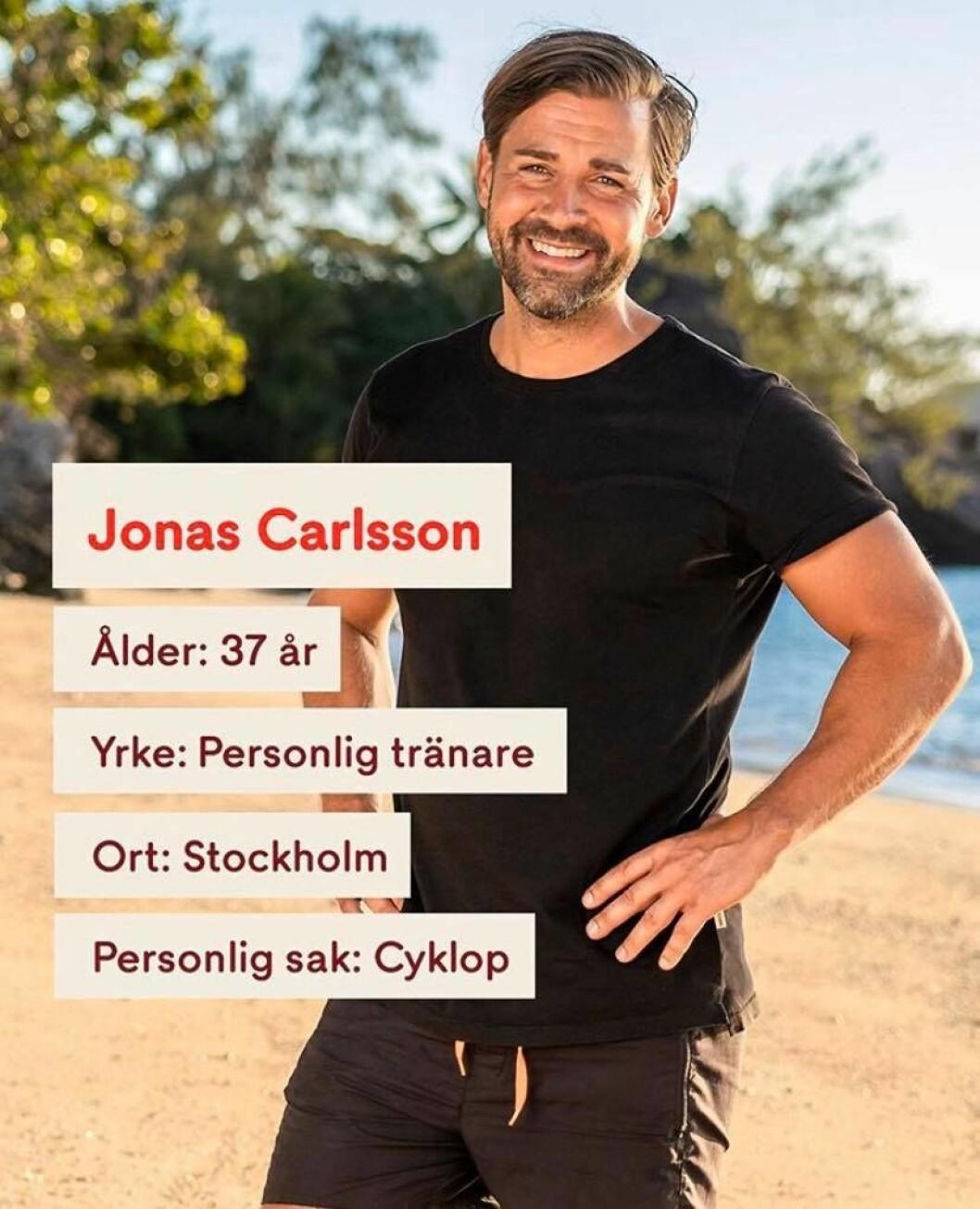 Jonas Carlsson i Robinson 2020