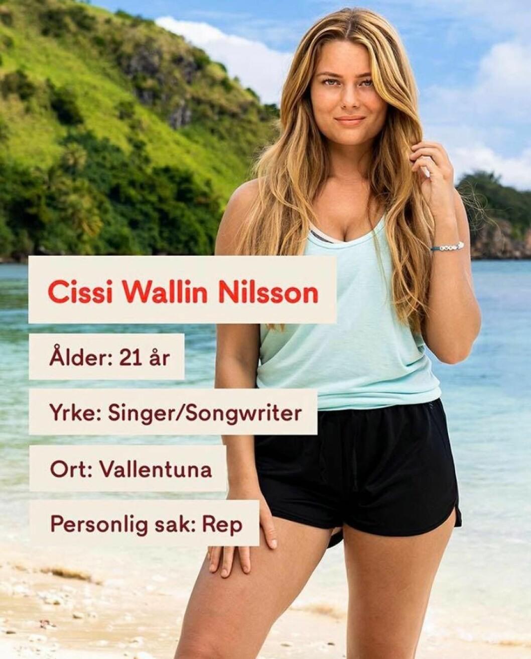 Cissi Wallin Nilsson i Robinson 2020