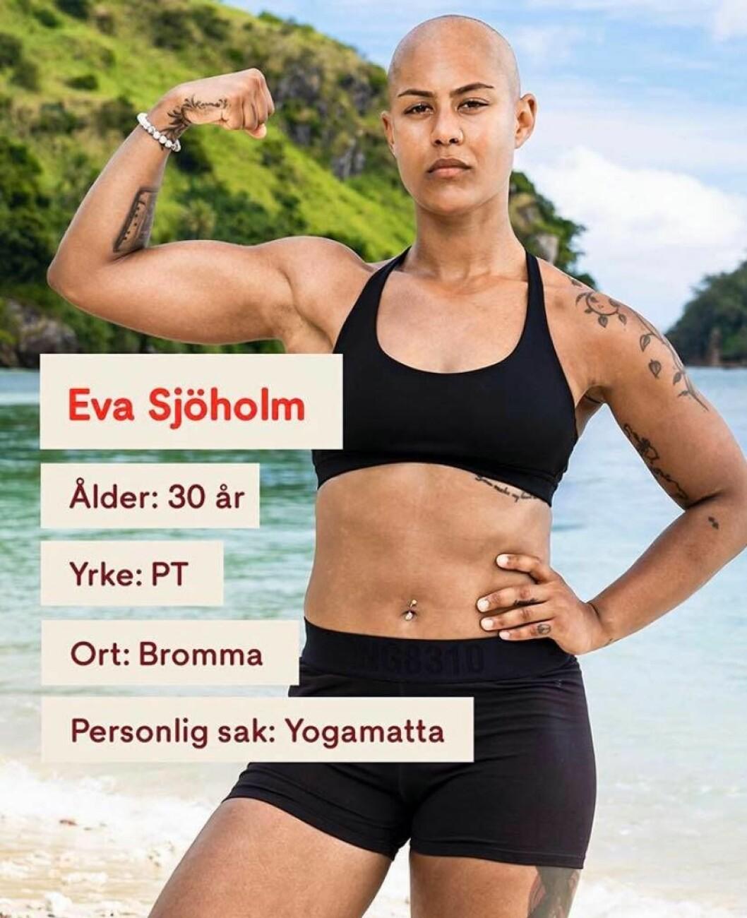 Eva Sjöholm i Robinson 2020