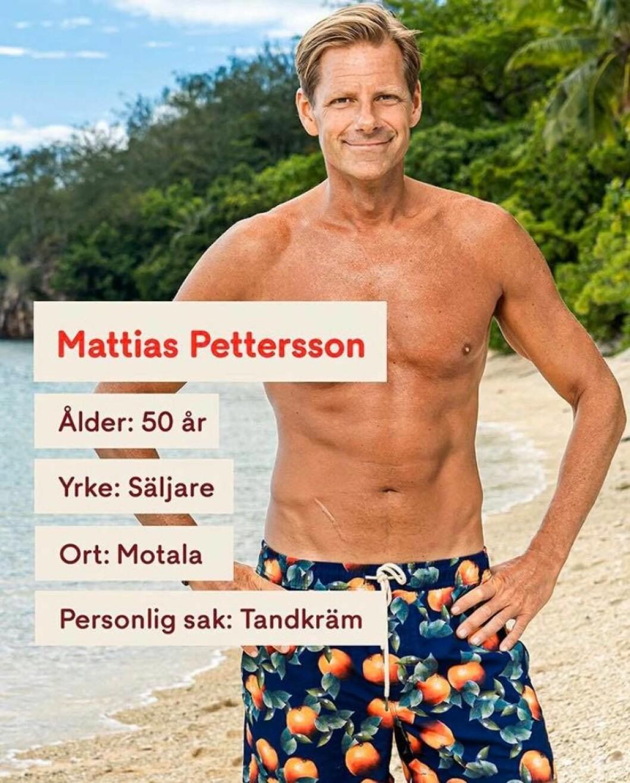 Mattias Pettersson i Robinson 2020